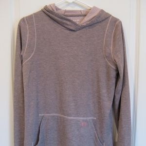 Under Armour Heathered Pink Long-Sleeve Hooded Tee